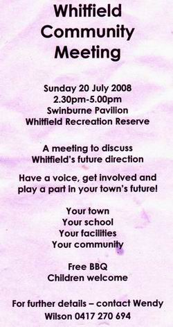 Whitfield public meeting flyer