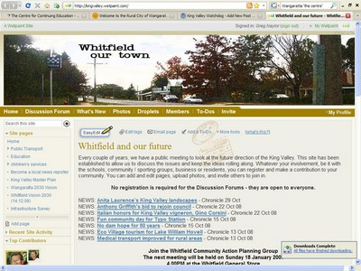 The Whitfield Planning Group community web page can be accessed by clicking on the image