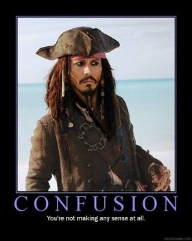 Capt Sparrow is befuddled