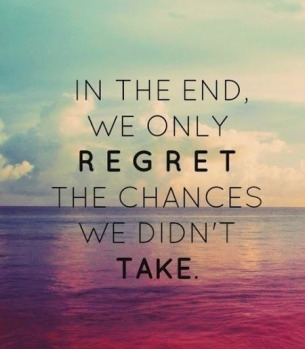 Regrets I've had a few.....but then again too few to mention.